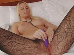 Alexis Adams fishnet pantyhose Orgasms