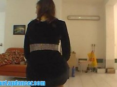 Striptease and lapdance by cute 18yo student