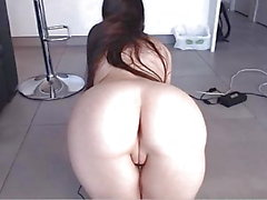 Sexy round ass tight asshole shaved cameltoe pussy doggy
