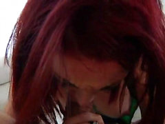 Redhead teen rimming and cum in mouth