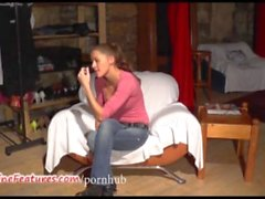 19yo czech chick shows her naked body at the casting