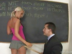 Teacher fucks blonde teen barbie