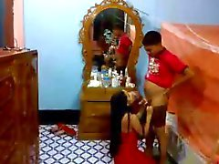 Indian newly wed couple in hotel blowjob and pussy eating shy and sexy