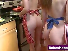 girls love to cook and show off
