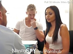 NannySpy Dad fucks nanny Ariana Marie after caught fucking son