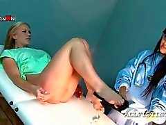 lusty blondie passing the gynecologist exam movie