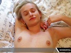 Blonde Babe First Dating Blowjob