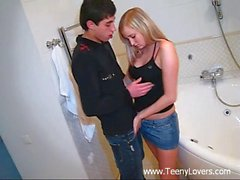 The wetness of darlings pussy is driving chap avid