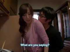 [English Sub] Japanese mom gives sex education to stepson