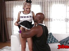 Teen girl Zoey is a black dick munching cheerleader