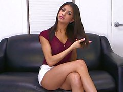 Veronica Rodriguez pleasures herself with a dildo
