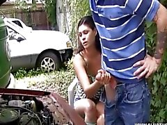 Outside Handjob