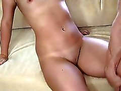 Cute babe Rachel Raven pussy creampied