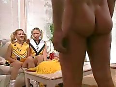 Hot young cheerleaders in a threesome