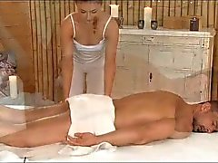 Massage Rooms - Horny young masseuse fucks