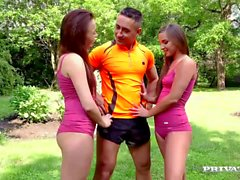 Amirah Adara and Tricia Teen 3way with the Teacher