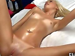 Petite babe fucked hard in her vag