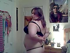 Young chubby girl strips....very hot!!