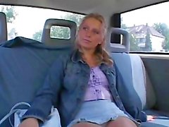 Sexy Euro Teen Sucking Dick In a Van