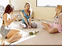 Lesbians spin the bottle