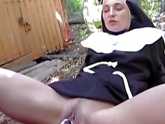 Naughty nun picked up for sex on street