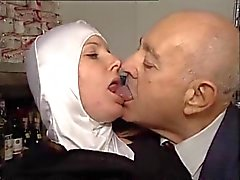 Hot Bodied Nun Gets Fondled By Perverted Old Man !