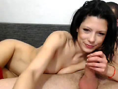 Hot Brunette Teen Has Doggystyle And Cowgirl Sex