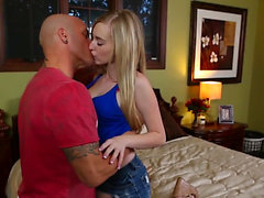 Tattooed guy has fun with Stacie