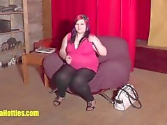18yo fatty shows her chubby body at the CASTING