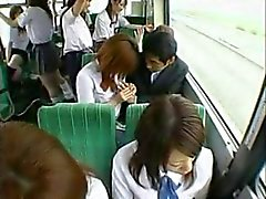 Handjob in bus