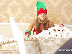 Skinny Teen Gina Gerson Gets DP For Christmas