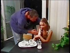 Petite meri take anal and swallow at home
