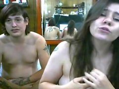 Brunette teen fingering on webcam amateur homemade